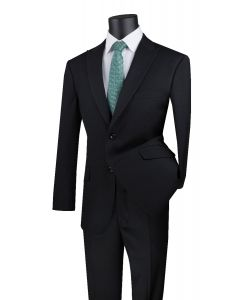 Vinci Men's 2 Piece Modern Fit Executive Suit - Pure Solid
