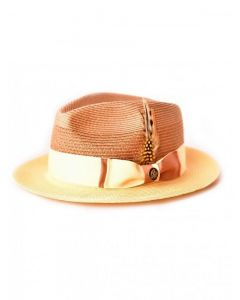 Steven Land Men's Straw Fedora Hat - Vibrant Colors