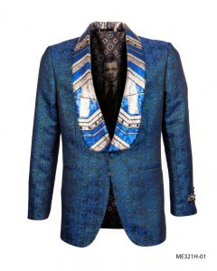 Empire Men's Luxurious Sport Coat - Exotic Sequin Collar