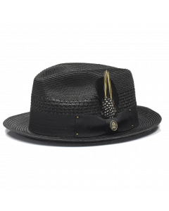 Steven Land Men's Straw Fedora Hat - Modern Fedora