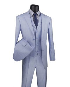 Vinci Men's 3 Piece Modern Fit Suit - Fancy Vest