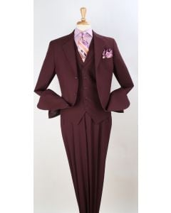 Royal Diamond Men's 3pc Discount Fashion Suit - Solid Colors