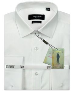 Statement Men's Outlet Long Sleeve 100% Cotton Shirt - French Cuffs