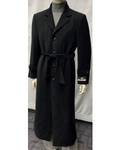 Carmel Zhao Men's Full Length Top Coat - Belt Closure