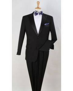Royal Diamond Outlet Men's 2pc Wool Feel Tuxedo - Pleated Pants
