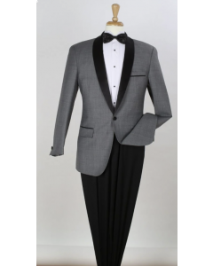 Apollo King Men's 2pc 100% Wool Outlet Tuxedo - Fashion Compose Style