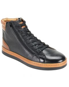 Steven Land Men's Premium Leather Casual Boot - Stylish High Top