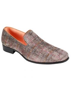 Steven Land Men's Loafer Shoe - Plaid Design
