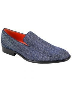 Steven Land Men's Loafer Shoe - Striped Patterns