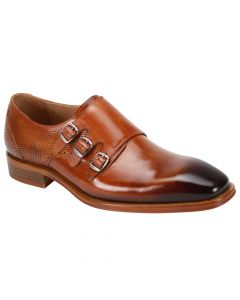 Steven Land Men's Outlet Premium Leather Dress Shoe - Triple Monk Strap