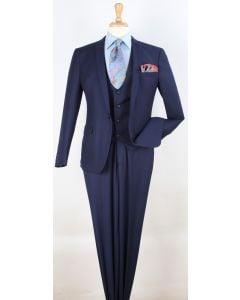 Royal Diamond Men's 3 Piece Slim Fit Fashion Suit - Deep Vest