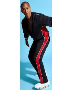 Stacy Adams Men's 2 Piece Athletic Walking Suit - Bold Stripe