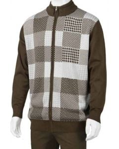 Luxton Men's Sweater - Patterned Checker