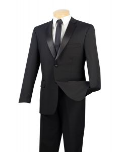 Vinci Men's Outlet 2 Piece Wool Feel Tuxedo - 2 Button Jacket