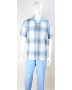 Royal Diamond Men's 2 Piece Walking Suit - Blurry Checker