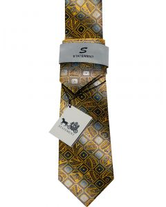 Statement Classic Tie Set- Abstract Checker