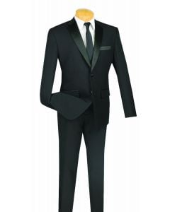 Vinci Men's 2 Piece 100% Poplin Discount Tuxedo - Slim Fit