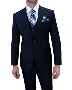 Royal Diamond Men's 3pc Poplin Suit - Business Fashion