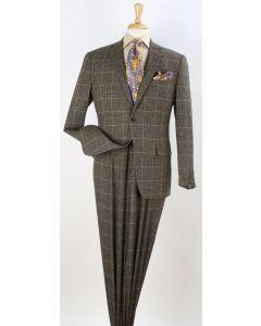 Apollo King Men's 2pc 100% Wool Outlet Fashion Suit - Exciting Color Design