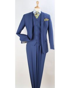 Apollo King Men's 100% Wool Outlet Suit - Classic Executive