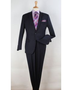 Apollo King Men's Outlet 2 Piece 100% Wool Fashion Suit - Varied Styles