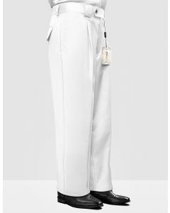 Statement Men's Outlet 100% Wool Pant - Pleated Wide Leg