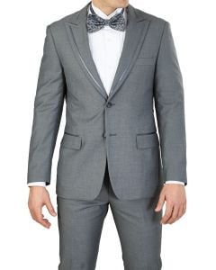 Vittorio St. Angelo 2 Piece Modern Fit Men's Tuxedo - Satin