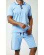 Stacy Adams Men's 2 Piece Short Set Walking Suit - Stitch Accents