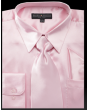 Daniel Ellissa Men's Basic Dress Shirt Set - Versatile Satin