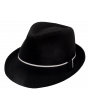 Karl Knox Men's Fedora Style Dress Hat - Contrast Band