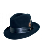Stacy Adams Men's Fedora Wool Felt Hat - Silk-Satin Band