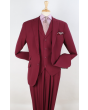 Apollo King Men's 3pc 100% Wool Fashion Suit - Stylish Peak Lapel