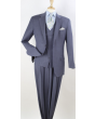 Apollo King Men's Outlet 100% Wool 3pc Fashion Suit - Double Breasted Vest