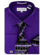 Karl Knox Men's French Cuff Shirt Set - Layered Cubic Design