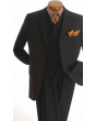 Apollo King Men's 3 Piece 100% Wool Outlet Suit - Executive Style
