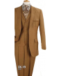 Apollo King Men's Outlet 3pc 100% Wool Fashion Suit - Box Pleated Pockets