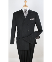 Apollo King Men's 3pc Fashion Suit -  Double Breasted